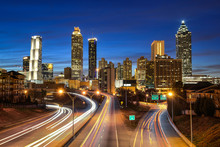 Atlanta Downtown Skyline Durin...