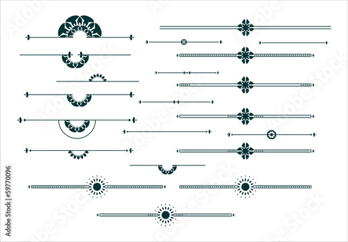 Photo  Graphic decorative elements set