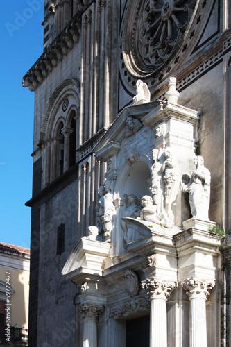 Cattedrale Acireale Particolare Ingresso Canvas Print