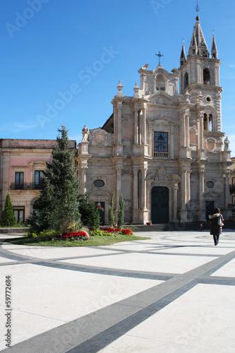 Acireale - Basilica dei Santi Apostoli Pietro e Paolo Canvas Print