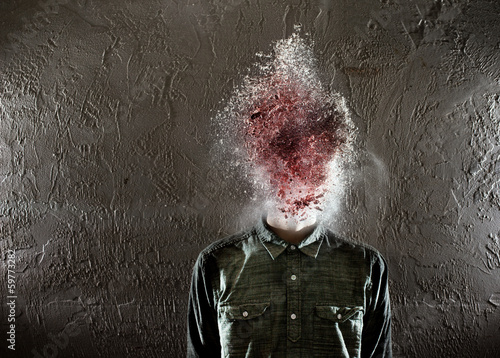 Fotografie, Obraz  Blow Your Mind - Exploding Head