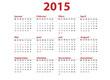 Kalender 2015 rot quer