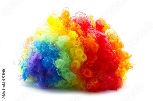Photo clown wig