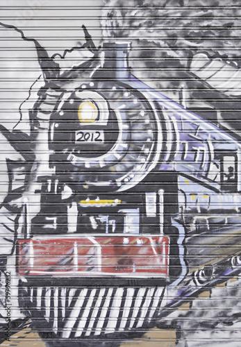 pociag-graffiti