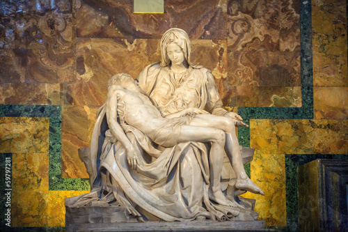 VATICAN CITY, ROME-JUNE 14  :St Peters Basilica one of the holie - 59797281