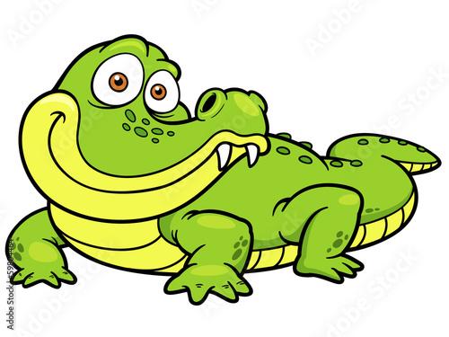 Fotografie, Obraz  Vector illustration of Cartoon crocodile