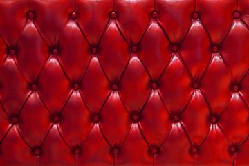Panel Szklany Tło / Tekstura / Desenie Fondo de textura de cuero natural acolchado en color rojo