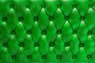 Plakat Fondo de textura de cuero natural acolchado en color verde