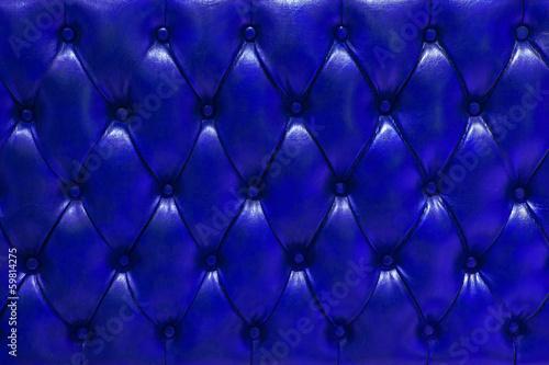 Fondo de textura de cuero natural acolchado en color azul marino