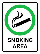 English Signs E290 - Smoking A...