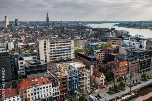 Keuken foto achterwand Antwerpen Aerial view of Antwerp, Belgium.