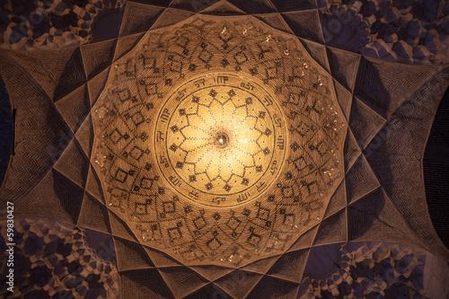 Photo  Cupola in Imam mosque in Kerman, Iran