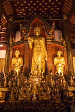 Interior Of Wat Ho Tham Temple...
