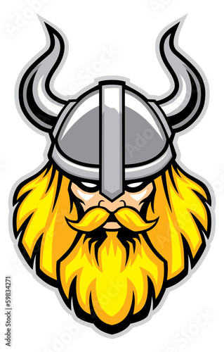 Fotografie, Obraz  viking warrior head mascot