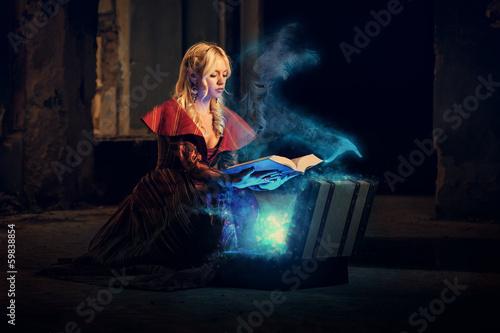 Fotografie, Obraz  Tajemný kniha magie