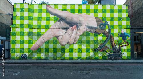 Plakat Wielki graffiti w Shoreditch, Londyn