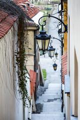 FototapetaNarrow street and stairs