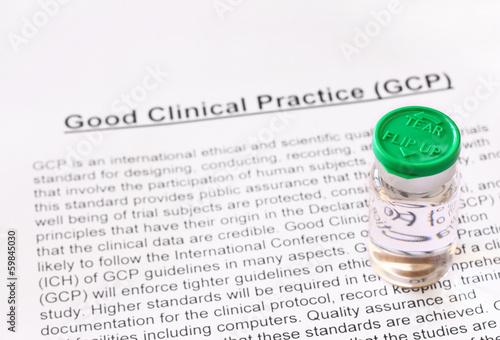 Fotografia  Good Clinical Practice. GCP.