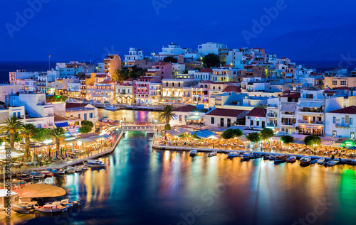 Fototapeta Agios Nikolaos, Crete, Greece obraz
