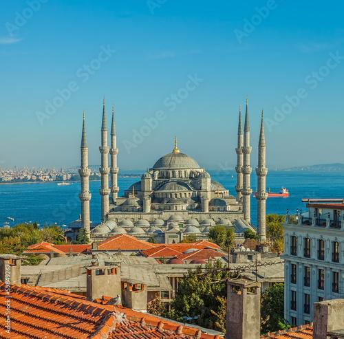 Cuadros en Lienzo La Mezquita Azul en Estambul