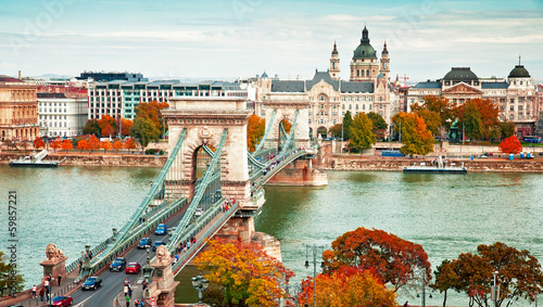 Budapest in autumn Wallpaper Mural