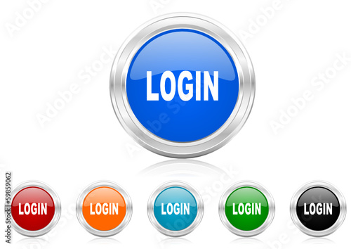login icon vector set - Buy this stock vector and explore