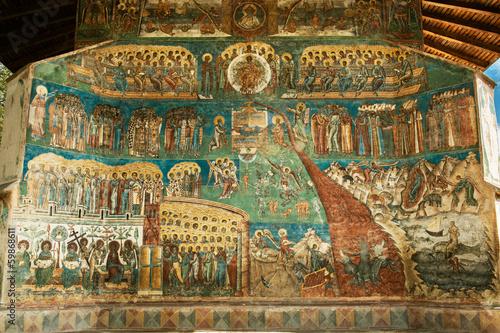Voronet Monastery - Last Judgement painting Fototapet