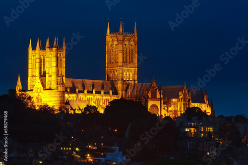 Photographie  Lincoln Cathedral at Night