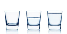 Empty,half And Full Water Glas...