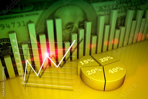 Fotografía  Financial and business concept