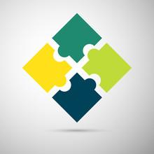 Color Puzzle Infographic