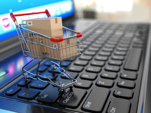 E-commerce. Shopping Cart With...