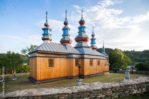Fototapety, obrazy: Eastern Orthodox Church in Komancza, Poland