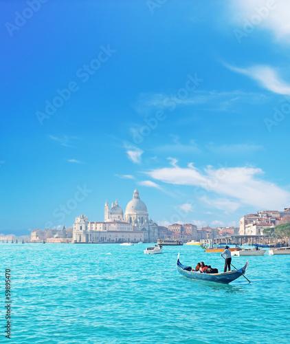 Spoed Foto op Canvas Gondolas Venice by gondola