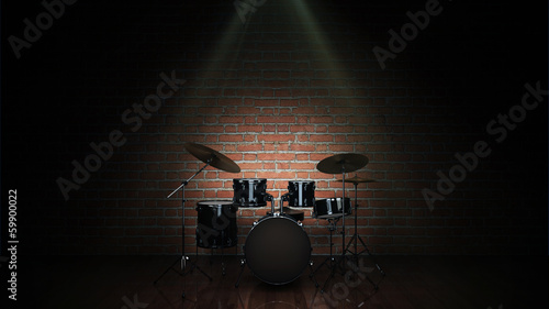 Tablou Canvas Drum kit isolated
