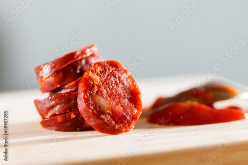 Fotografie, Obraz  spanish sausages