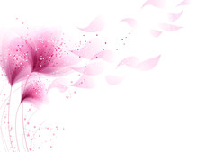 Vector Background With Pink Fl...