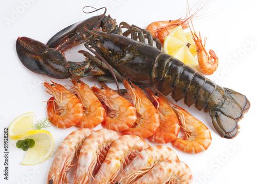 Foto op Canvas Schaaldieren seafood