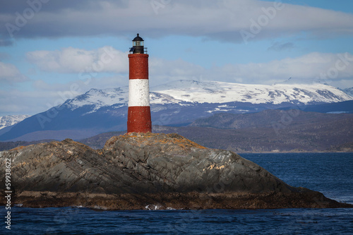 Garden Poster Lighthouse Lighthouse End of the world in the Beagle Channel, Ushuaia, Pata