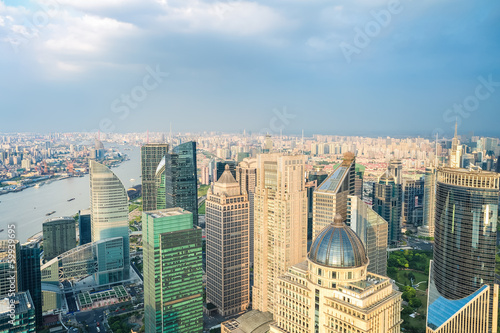 Foto op Aluminium New York shanghai skyline aerial view