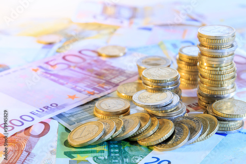 Fotografie, Obraz  euro currency background