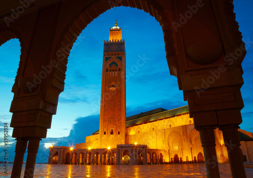 Photo  Hassan II Mosque in Casablanca, Morocco Africa