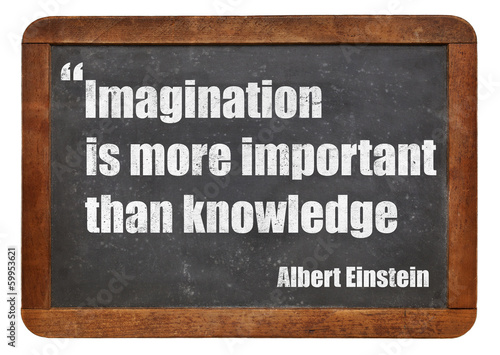imagination and knowledge Poster