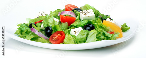 In de dag Verse groenten Fresh Vegetable salad (greek salad). Useful vitamin food.