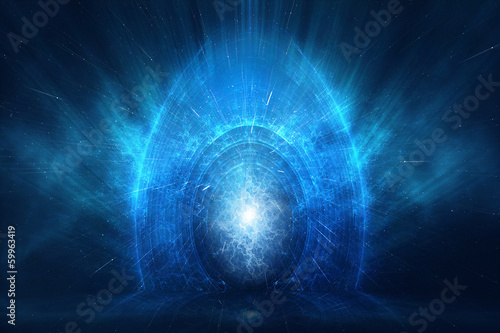 Photo Time and space travel concept abstract background