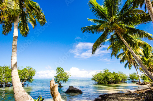 Foto-Kissen - Caribbean: Lonely beautiful beach :)