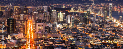 Poster de jardin San Francisco San Francisco Panorama