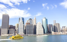 Manhattan In A Sunny Day