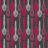 Spoons seamless pattern