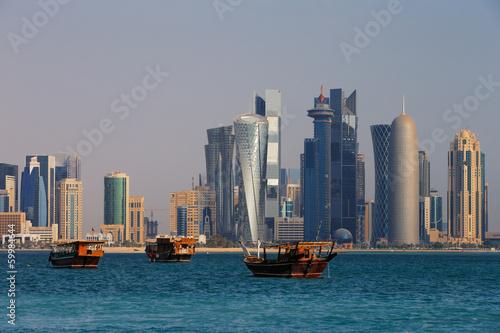 Fotografie, Obraz  The West Bay City skyline of Doha, Qatar